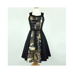 Edgar Allen Poe Inspired Dress ❤ liked on Polyvore featuring dresses, green dress and green color dress
