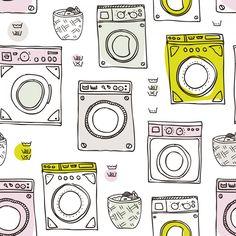 Papel de parede autocolante lavanderia ff173