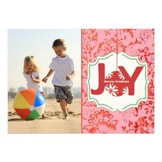 Vintage Floral Joy Christmas photo card #holiday cards #Christmas cards #photo cards  Click on photo to purchase. Check out all current coupon offers and save! http://www.zazzle.com/coupons?rf=238785193994622463&tc=pin