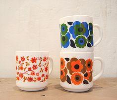 Mugs arcopal lotus et scania vintage