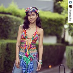 #Repost @jheneaiko with @repostapp. This is one of the 30 #coachella #crochet #fashion pieces featured today on the #crochetconcupiscence blog. So beautiful. by kvercillo
