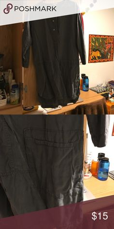 Tencel gap tunic Soft tencel gray tunic. Worn once, really cute in the summer GAP Tops Tunics
