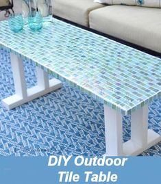 DIY Outdoor Tile Table - Great Patio Idea