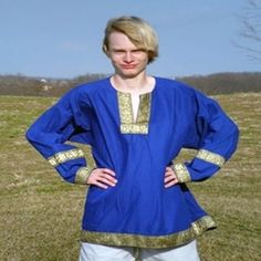 Greek Tunic VL-GTUNIC - Buy from By The Sword, Inc.  40  In black, white, brown, blue, red, kelly green, eggplant, yellow, berry.
