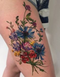 b8cce194b 50+ Best Pastel Color Flower Tattoos For Girls - Shake that bacon