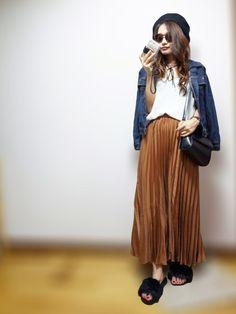 nyaobu|GUのスカートを使ったコーディネート - WEAR