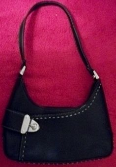 really sweet! BN/wout Tag - Leather - CANDI's - petite - black - SHOULDER BAG - includes FREE S & H!