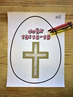 FREE Resurrection Eggs Coloring Pages