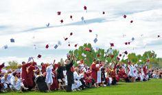 June 1971 high school graduation - thank goodness it was over!