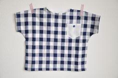 cotton gingham shirt. tg 2-3 years