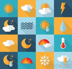 16 creative vector weather icons