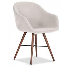 details zu stuhl nora esszimmer armlehnenstuhl sessel in vintage stoff hellgrau beine eiche. Black Bedroom Furniture Sets. Home Design Ideas