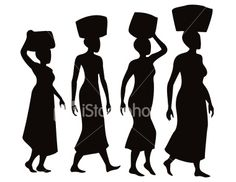 Afro Silhouette Clip Art | African Women Silhouettes wonder if this is the same image from the cover of the book 'the secret lives of baba segi's wives'