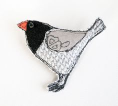 Little Birdie  Freehand Embroidery Fabric by RabbitHoleCorner, £5.00