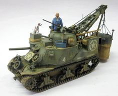 WW2 M31 (T2) Tank Recovery Vehicle, 1/35 scale. By Marcos Augustus Serra. RPM 1/35 scale German MG-Panzernest. #scale_model