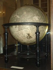 Terrestrial globe by Wilem Bleau of Amsterdam (1622) in the White hall of the Vilnius university library