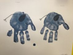 hand print elephant craft - E is for elephant (elefante)