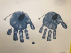 hand print elephant craft - E is for elephant (elefante)