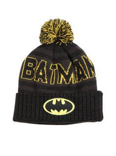 DC Comics Batman Fold-Over Pom Beanie