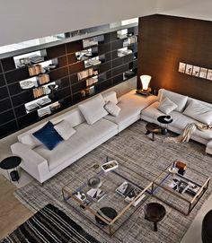 LARGE #sofa by MOLTENI & C.   #design Ferruccio Laviani #interiors @Molteni Arredamenti Arredamenti&C Dada