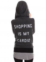 "Wildfox ""shopping is my cardio"" sweatshirt!"