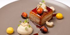 Richard Davies uses old and new techniques to create a stunning pork belly dish, accompanying with baked apple and celeriac purées,…