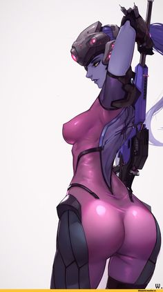 Overwatch Ero,Overwatch,Blizzard,Blizzard Entertainment,фэндомы,Widowmaker,vocky,wocky