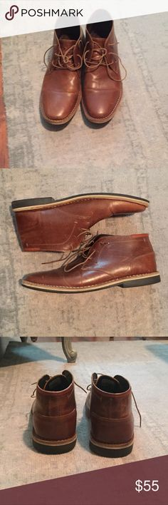 Steve Madden Harken Chukka boot steve madden harken chukka boot.  sz 13 color : Cognac  normal wear - perfect with shoe polish. Steve Madden Shoes Chukka Boots