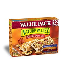 Nature Valley Granola Bars Sweet and Salty Nut Variety Pack of Peanut and Almonds 12 Bars  12oz Pack of 8 * Read more  at the image link. (This is an affiliate link and I receive a commission for the sales)