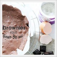 sticky brownie with fleur de sel