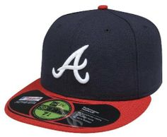 MLB Atlanta Braves Authentic On Field Game 59FIFTY Cap, Navy/Red by New Era. $21.09. 100% Polyester fitted Authentic Baseball Cap as worn by all players on the field. Embroidered Team logo with American flag background outlined in white. Cool Base technology wicks moisture away from the head. Officially licensed by Major League Baseball. Made in the USA. synthetic. Amazon.com                The official on-field cap of Major League Baseball, New Era's 59FIFTY cap ...