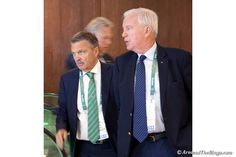 IIHF's Rene Fasel (left) and WADA's Craig Reedie on Aug. 3 at the IOC Session (ATR)