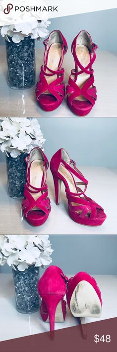 ALDO Brennaman Pink Suede size 6 ALDO Brennaman   Pink Suede   size 6  5 inches in height Aldo Shoes Heels
