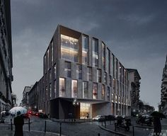 Images created for the competition of the new headquarters of the offices of Reale Mutua in Turin