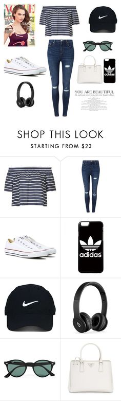 """""""Untitled #77"""" by manarn5 on Polyvore featuring Topshop, Miss Selfridge, Converse, adidas, Nike Golf, Beats by Dr. Dre, Ray-Ban and Prada"""