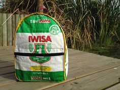 "Iwisa Backpack made by Tabitha @ Waste Design. Taken at ""the office"" Intaka Island, Century City, Cape Town"