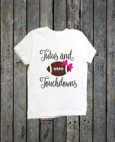 Tutus and Touchdowns/ Football shirt/ girls outfit/ football girl/ Little sister shirt/ NFL/ little girls shirts/ Football sister/ Tshirts by BeutiqueCreations on Etsy
