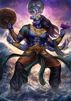 Avatar of Vishnu Shiva Hindu, Shiva Art, Shiva Shakti, Hindu Deities, Hindu Art, Hanuman Images, Lord Krishna Images, Angry Lord Shiva, Krishna Avatar