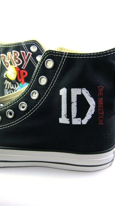Custom Hand-Painted One Direction Converse All Star Hi-Tops - 1D. $95.00, via Etsy....WANT!!!!!!!!!!!!!!!