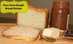 Faux Sourdough Bread Recipe - low sodium bread that tastes good! http://www.annsentitledlife.com/recipes/faux-sourdough-bread-recipe/