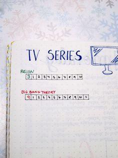 Bullet Journal Tv Series Tracker