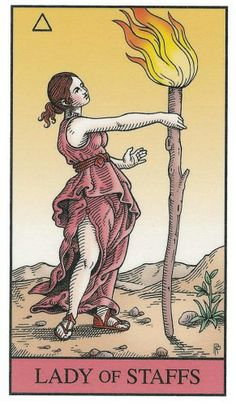 Page of Staffs - Alchemical Renewed Tarot by Robert M. Place, Leisa ReFalo