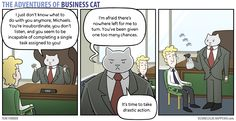 Business Cat - Drastic Action