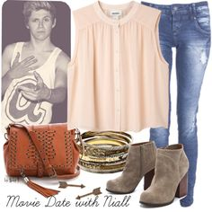 Movie date outfit, created by abbytamase on Polyvore