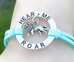 Hear Me Roar Silver Circle Infinity Charm Bracelet  by BeMyCharm, $10.00