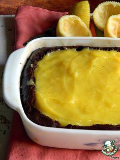 Шоколадный пирог с лимонным курдом и воздушной меренгой - кулинарный рецепт