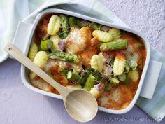 Gnocchi-Spargel-Auflauf - smarter - mit Schinken. Kalorien: 356 Kcal | Zeit: 40 min. #pasta