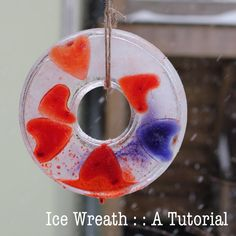 Ice Wreath Tutorial that will warm your heart in chilly weather!