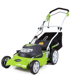 Greenworks 25022 Lawn Mower - Read our detailed Product Review by clicking the Link below