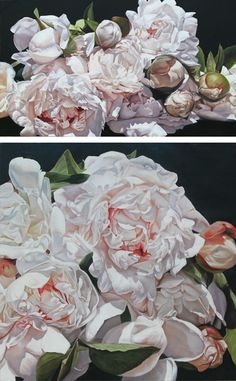 The House That Lars Built.: Oversized flower paintings